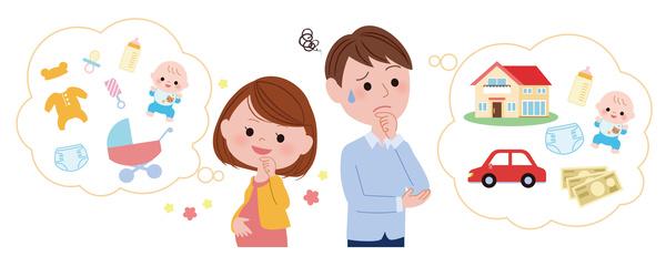 出産費用について考える夫婦